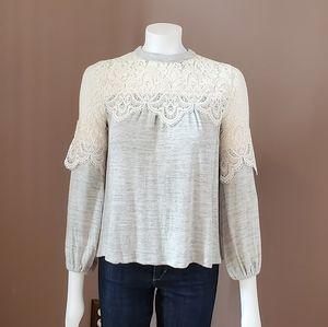 ALTAR'D STATE lace shoulder knit top S